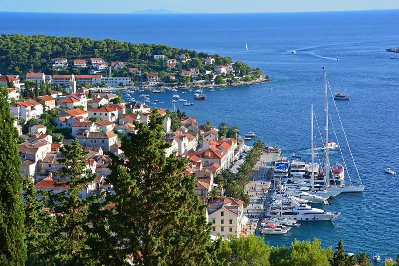 Island Hopping Croatia: Hvar Town Harbor